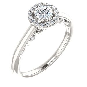 Jewelry - Halo Style Moissanite Diamond Engagement Ring